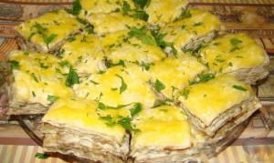 грибной торт из лаваша