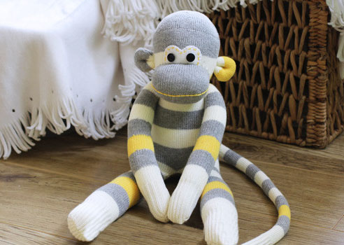 Игрушка обезьяна из носка своими руками