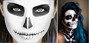 Грим скелета на Хэллоуин своими руками 2