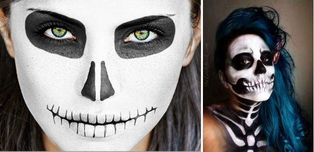 Как сделать страшный грим в домашних условиях на хэллоуин