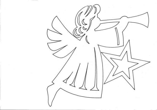 Новогодние ангелы из бумаги своими руками