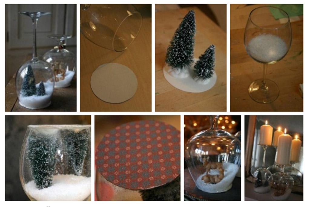 Сделать подсвечники из стаканов своими руками