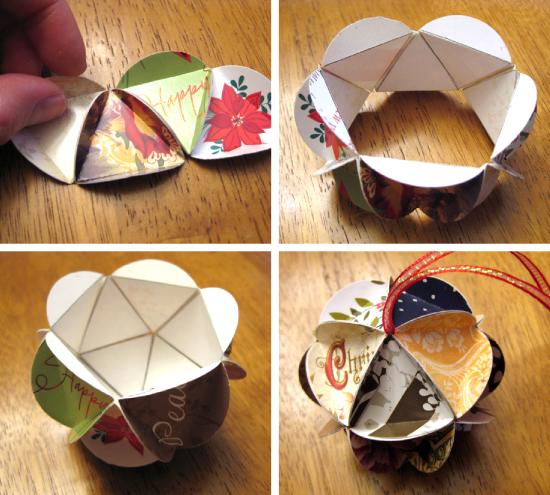 Новогодние игрушки из бумаги своими руками фото