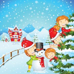 Новогодние игры для детей возле елки