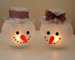 свеча снеговик своими руками