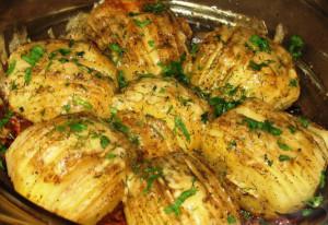 Веера из картофеля с сыром