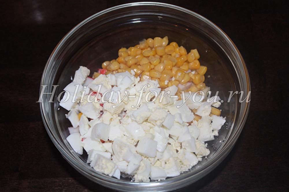 Салаты рецепты ананас крабовые палочки