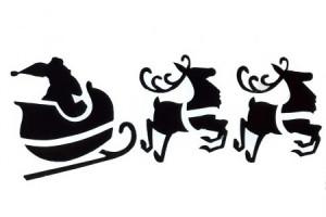 сани с оленями