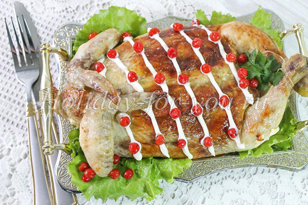 фаршированная курица в духовке с пошаговым рецептом