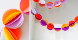 Елочные шары из бумаги