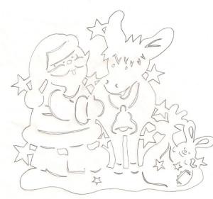 Дед Мороз с оленем