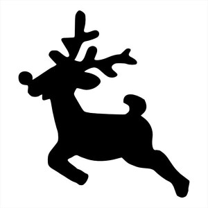 Трафареты оленей на Новый год для вырезания