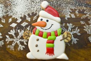 Новогоднее печенье «Снеговичок»: рецепт с фото