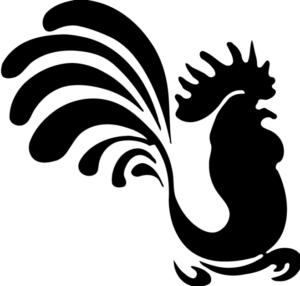 трафарет петуха 1