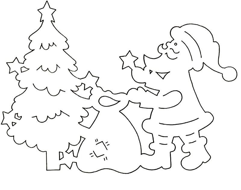 Новогодние украшения на окна из бумаги своими руками шаблоны фото