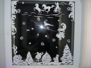 Новогодний декор на окна из бумаги