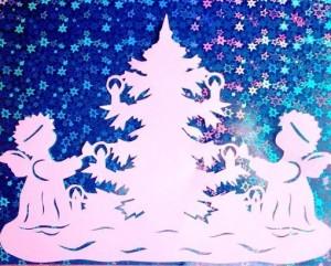 Украшения на окна из бумаги к Новому году: шаблоны