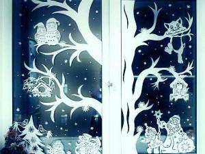 Вытынанки, новогодние шаблоны на окна
