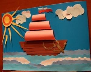 Картина с корабликом