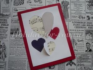 Валентинка из бумаги своими руками для детей