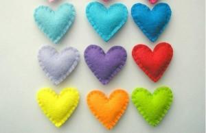 Поделки из фетра на День влюбленных
