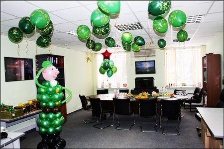 Прикольные поздравления на 23 февраля в офисе