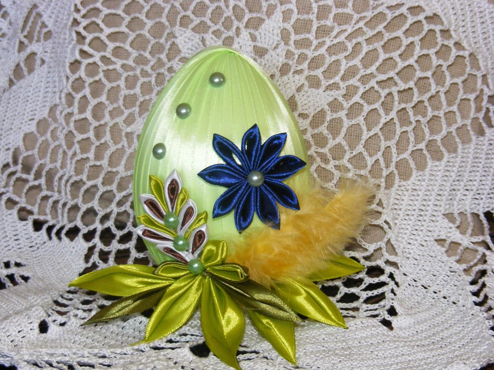 Пасхальные яйца своими руками канзаши