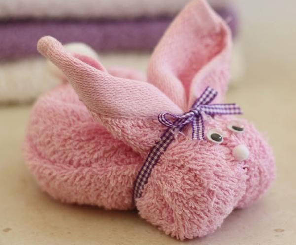 Кролик из полотенец своими руками