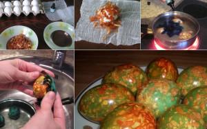 Как покрасить яйца на Пасху луковой шелухой и зеленкой