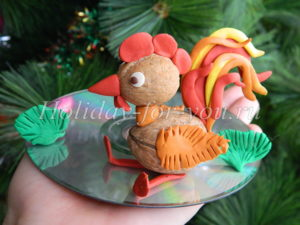 Поделка Петушок для детского сада к Новому году