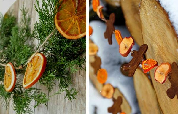 Гирлянда из апельсина
