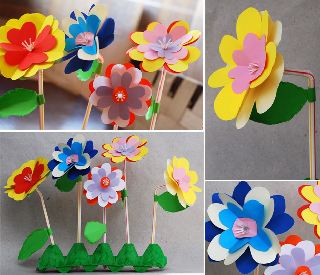 цветы для мамы своими руками из пряжи