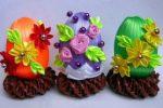 Миниатюра к статье Пасхальные яйца своими руками из атласных лент канзаши